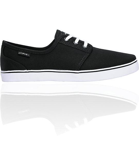 Circa Crip Black & White Canvas Skate Shoes