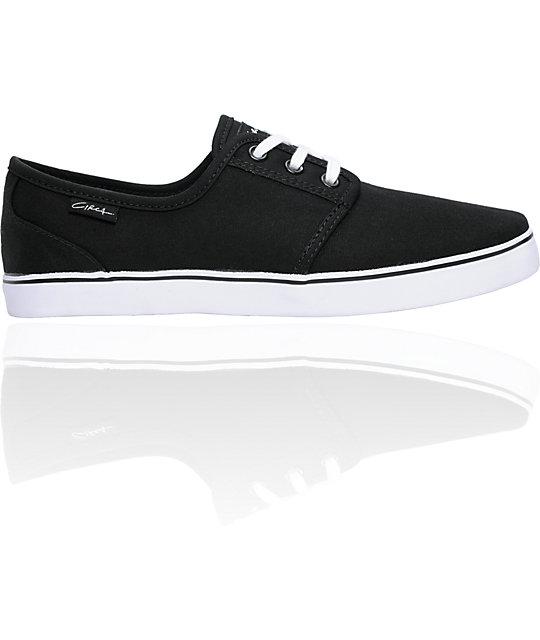 Circa Crip Black & White Canvas Skate Shoes