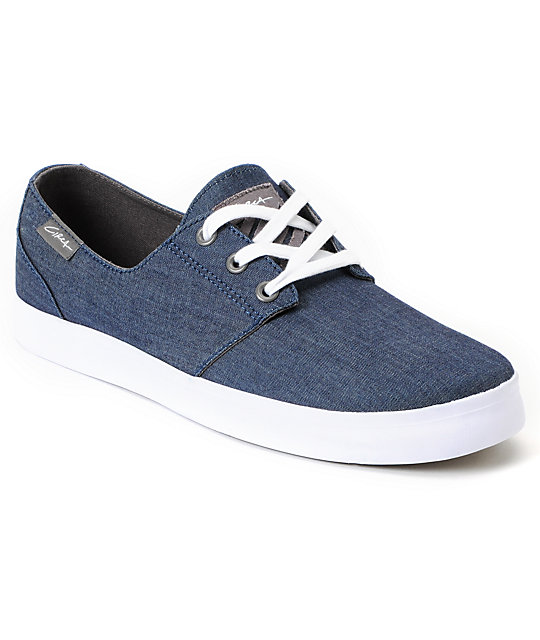 Circa Crip Blue Chambray Canvas Skate Shoes