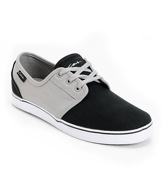 Circa Crip Grey & Black Canvas Skate Shoes