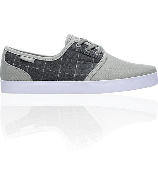 Circa Crip Grey & Grey Plaid Skate Shoes