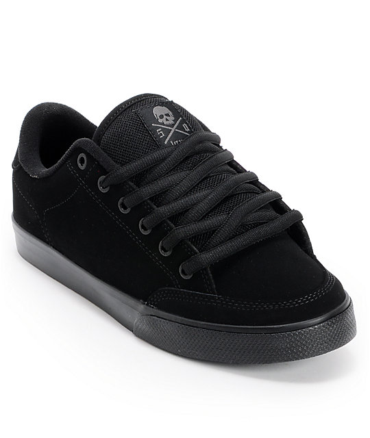 Circa Lopez 50 Suede Black & Black Skate Shoes