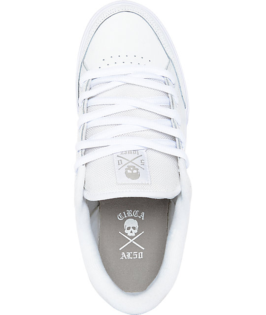 Circa Lopez 50 White & Grey Skate Shoes