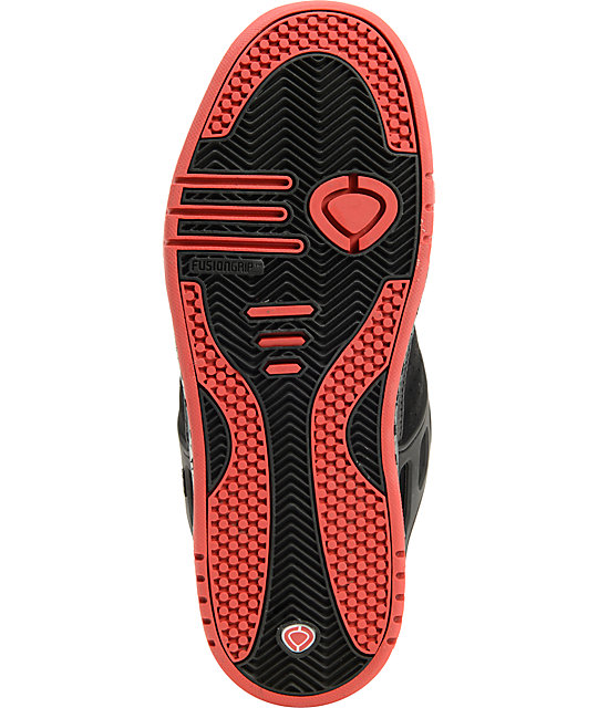 Circa Shifter Black & Red Skate Shoes