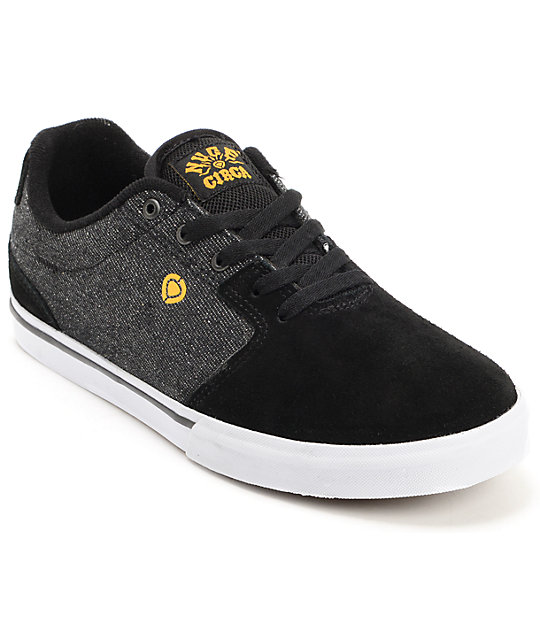 Circa Tweest Black & Denim Skate Shoes
