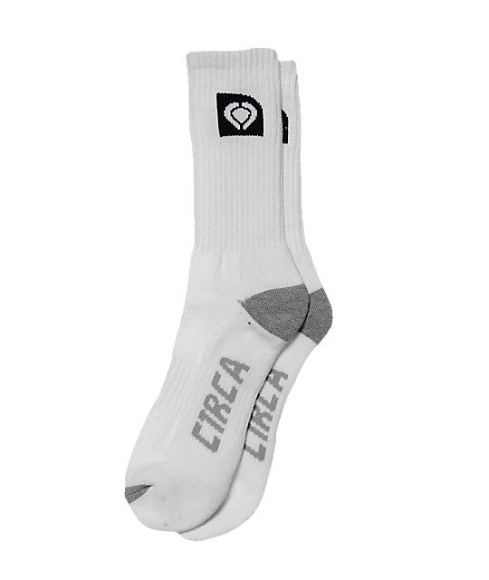 Circa White Crew Socks