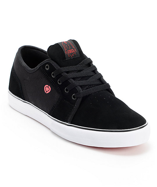 Circa Widow Black & Crimson Skate Shoes