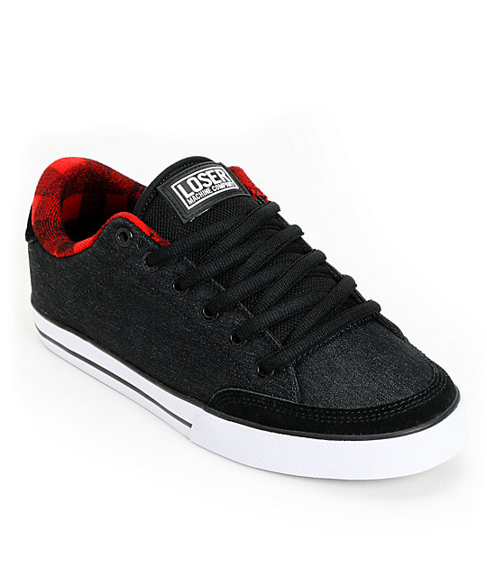 Circa x Loser Machine Adrian Lopez 50 Black & Denim Skate Shoes