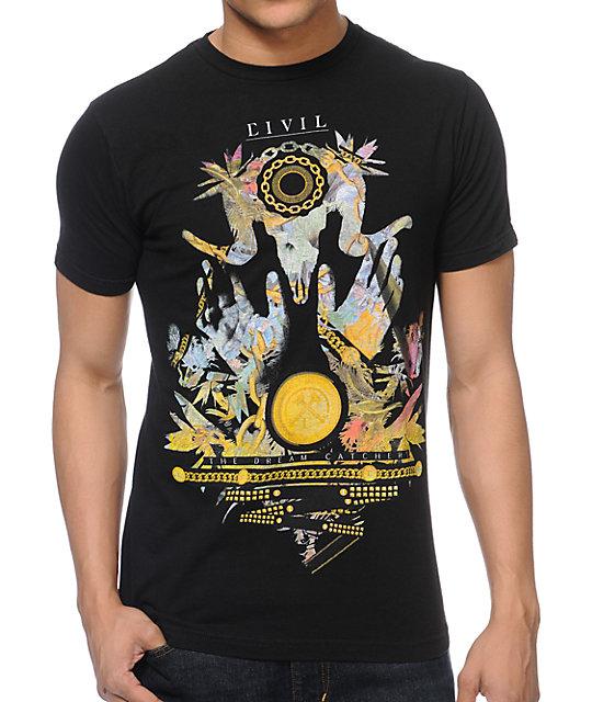 Civil Dream Catcher Black T-Shirt