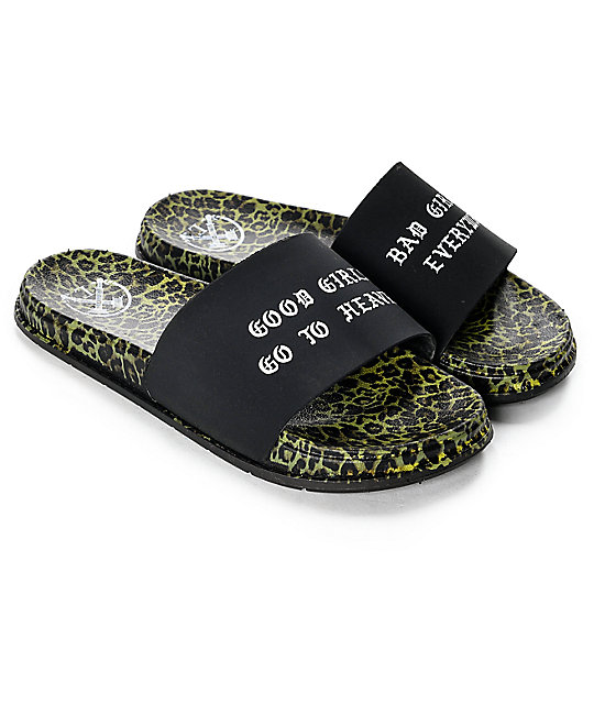 Civil Girls Go To Heaven Leopard Slide Sandals