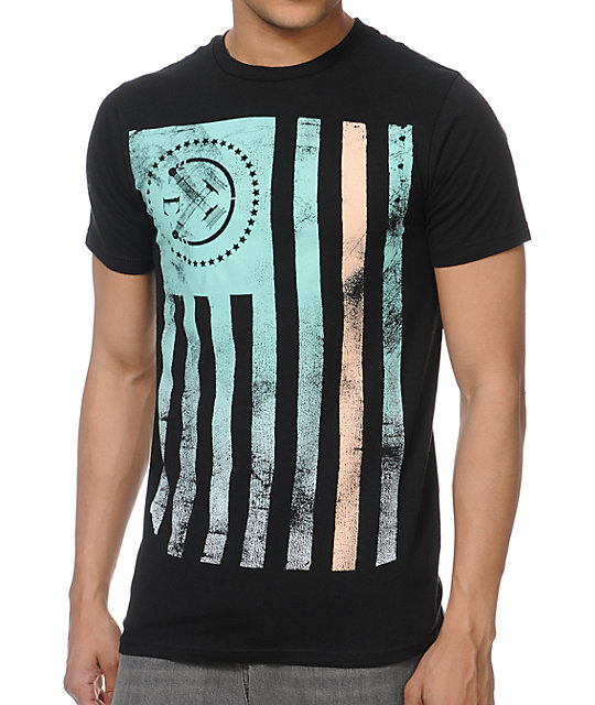 Civil Rebel Flag Black T-Shirt