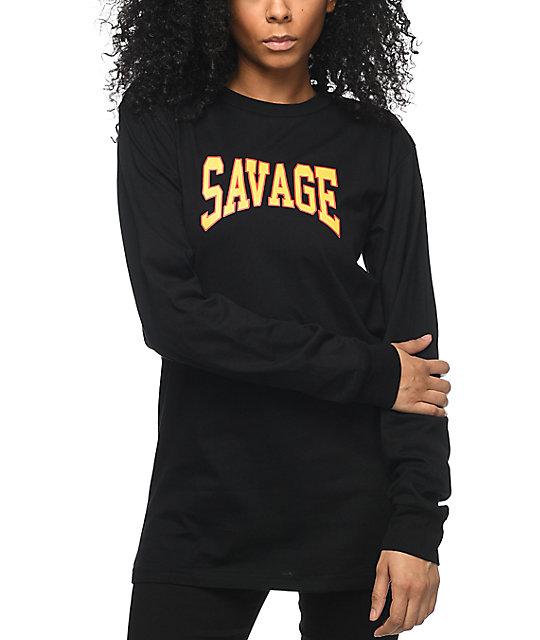 Civil Savage Black Long Sleeve T-Shirt