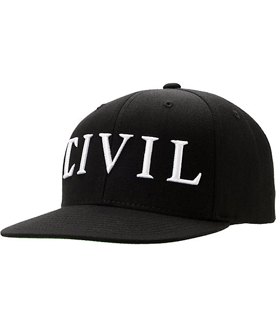 Civil Trap Black Snapback Hat