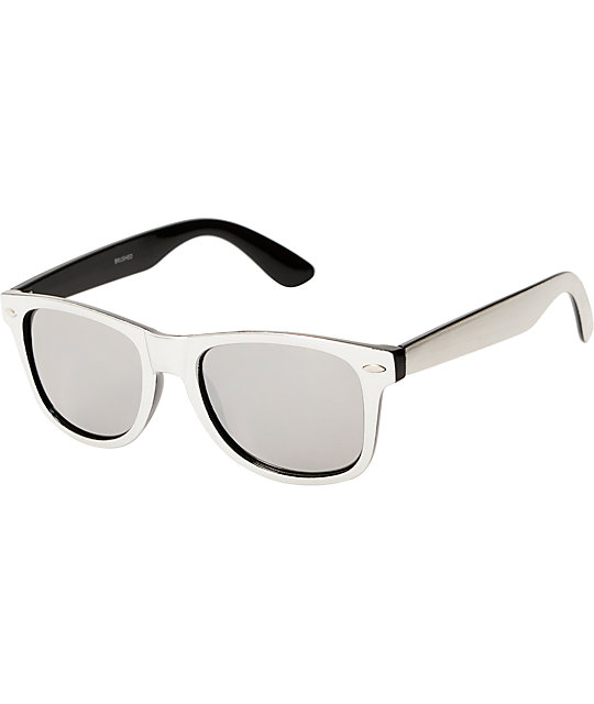 Classic Brushed Mono Chrome Sunglasses