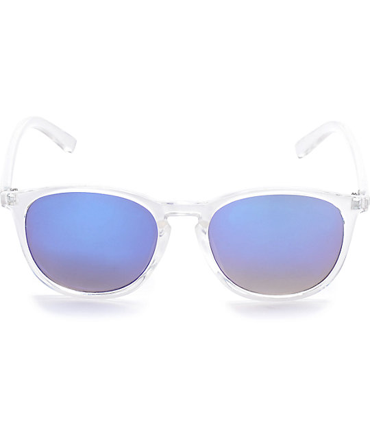 Classic Clear & Blue Mirrored Sunglasses