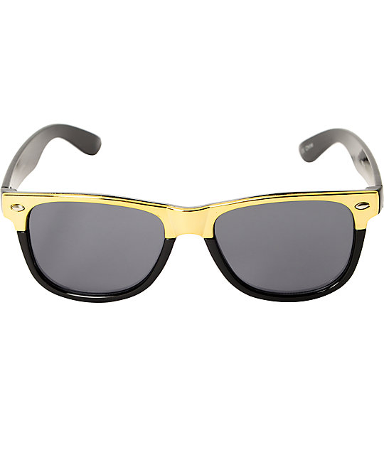 Classic Corporal Black & Gold Sunglasses