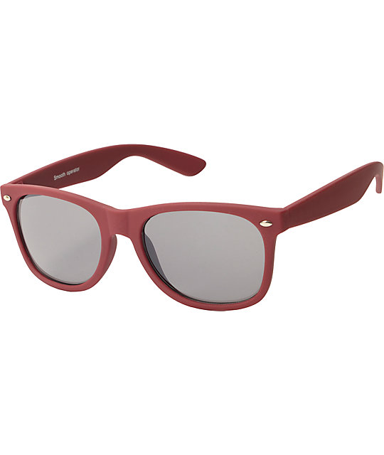 Classic Smooth Operator Matte Burgundy Sunglasses