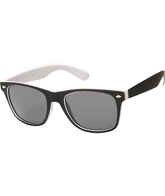 Classic Spec Black & White Sunglasses