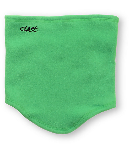 Clast Green Fleece Neck Warmer