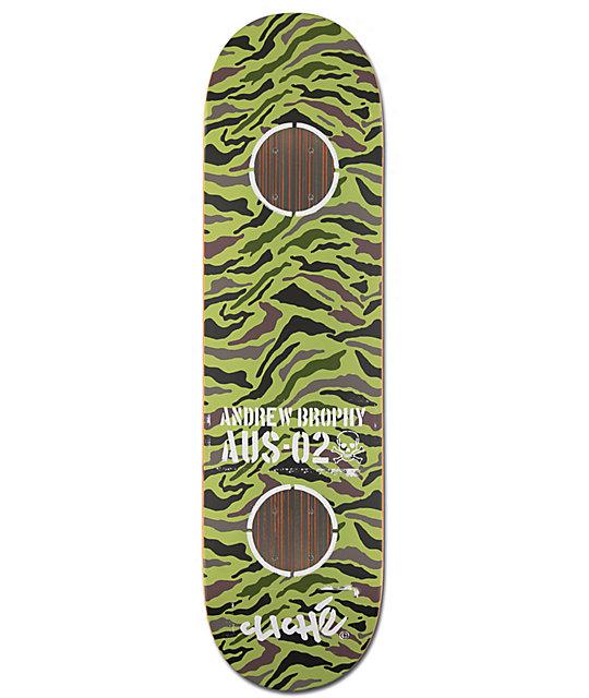 "Cliche Andrew Brophy Camo 8.25""  Skateboard Deck"