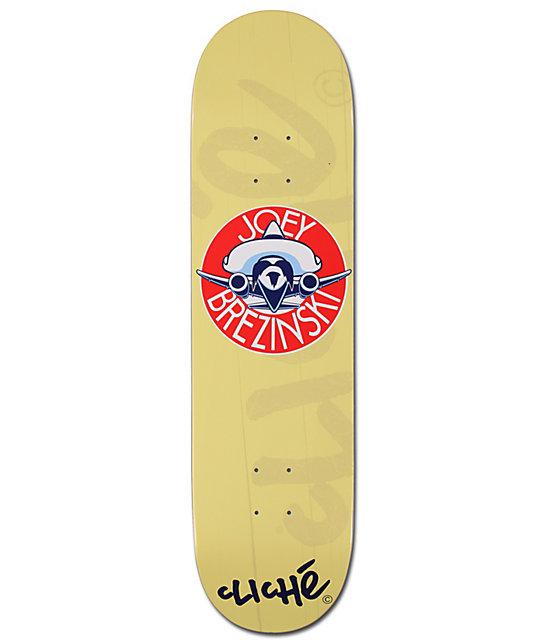 "Cliche Brezinski Bon Voyage 8.25""  Skateboard Deck"