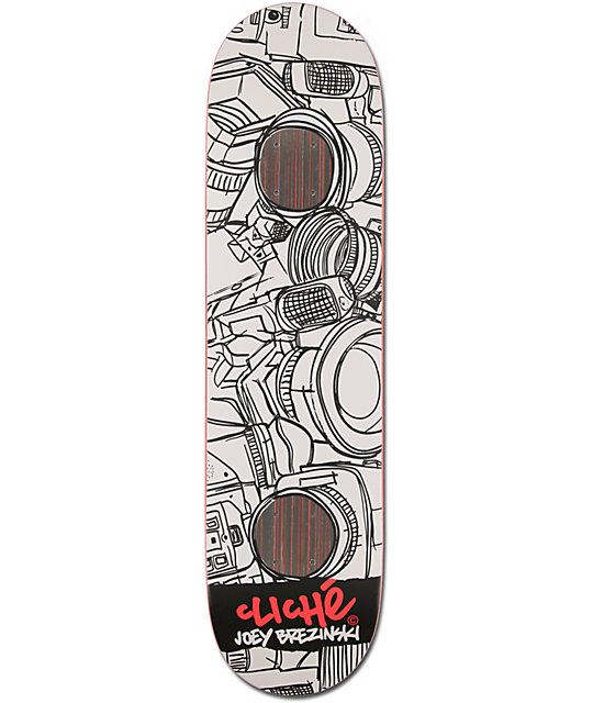 "Cliche Joey Brezinski Sketches 8.0""  Skateboard Deck"
