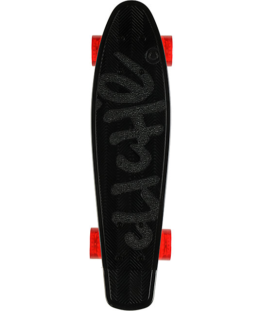 "Cliche Trocadero Black & Red 22.5""  Mini Cruiser Skateboard"