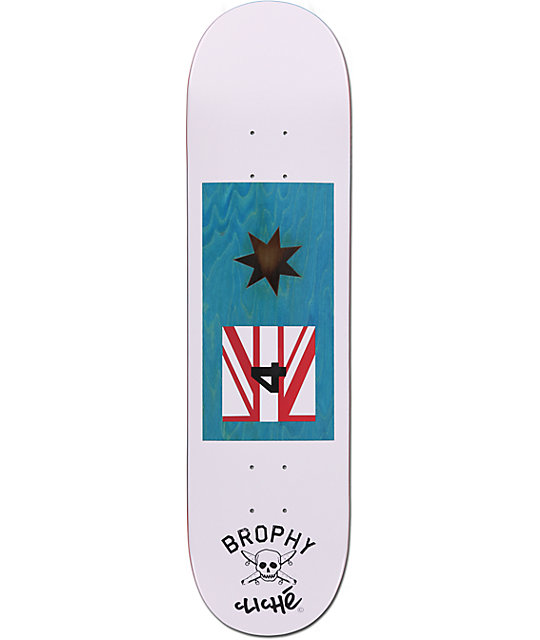 "Cliche x Fourstar Brophy 8.125""  Skateboard Deck"