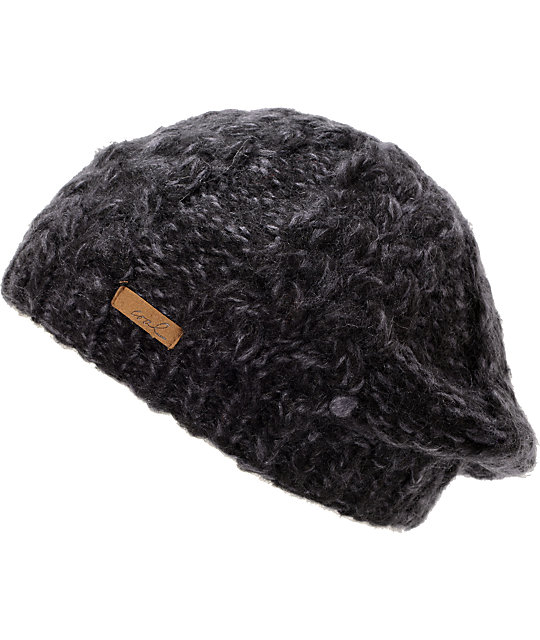 Coal Addie Black Knit Beanie