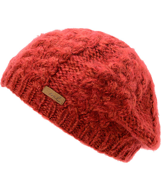 Coal Addie Dark Red Beanie