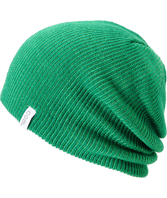 Coal Binary Green Beanie