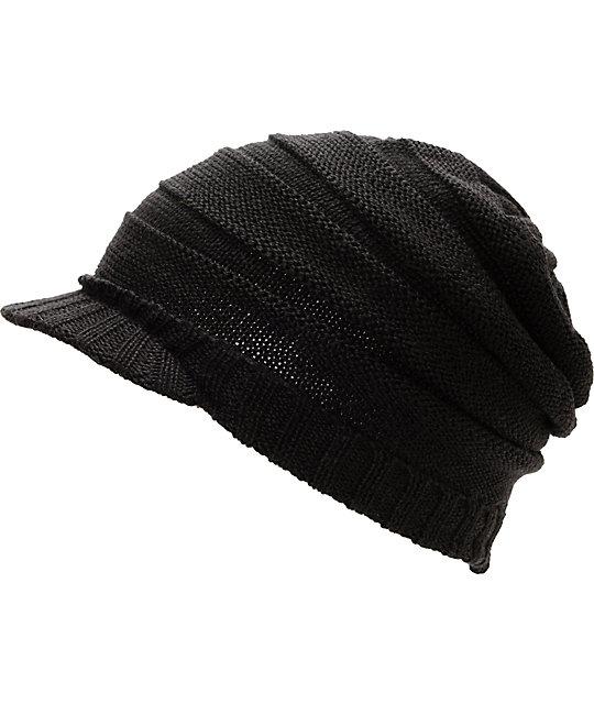 Coal Cameron Black Visor Beanie