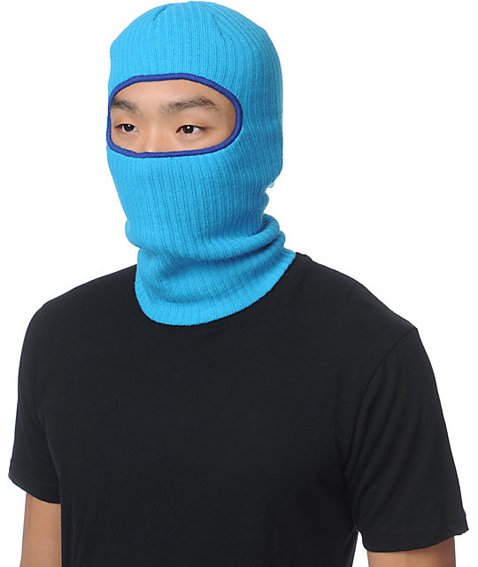 Coal Clava Blue Knit Face Mask Beanie