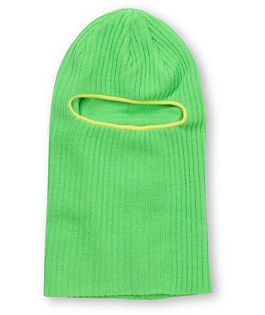 Coal Clava Green Knit Face Mask Beanie