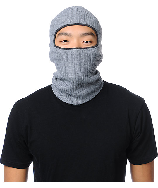 Coal Clava Heather Grey Knit Face Mask Beanie