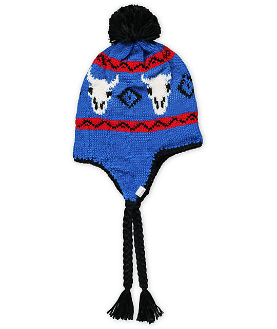 Coal Dakota Royal Blue Earflap Beanie