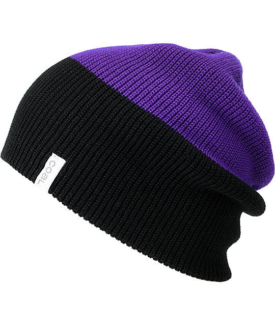 Coal Duo Purple & Black Beanie