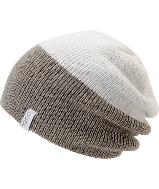 Coal Duo White & Grey Beanie