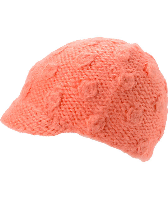 Coal Frida Peach Visor Beanie