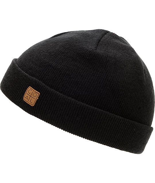 Coal Harbor Black Cuff Beanie