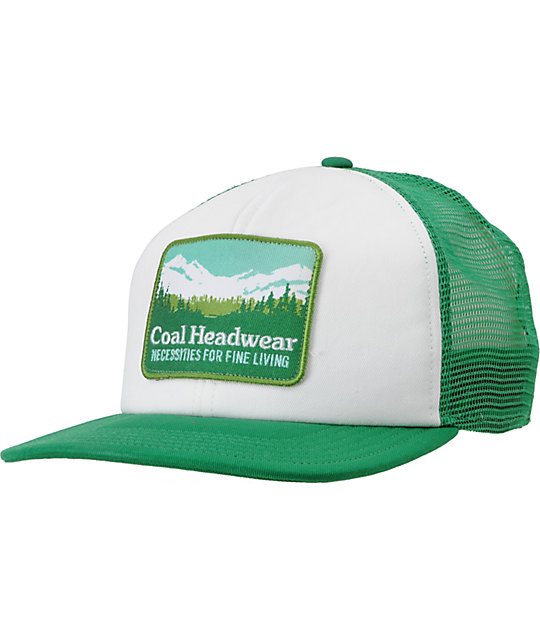 Coal Hauler Green Trucker Snapback Hat