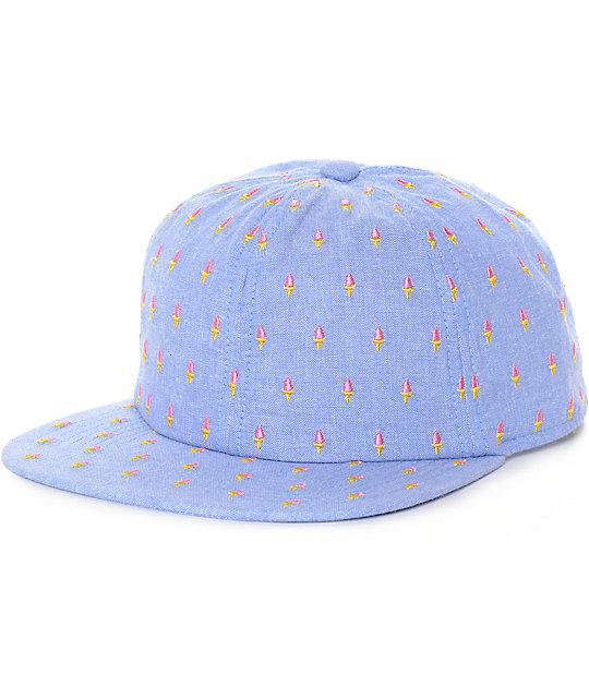 Coal James Ice Cream Blue Snapback Hat