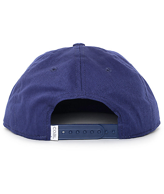 Coal Junior Unstructured Camera Navy Snapback Hat