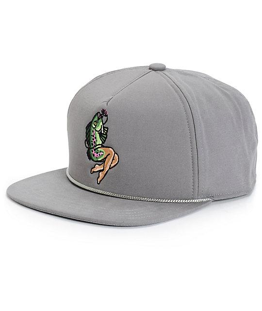 Coal lore fish maiden snapback hat at zumiez pdp for Fishing snapback hats