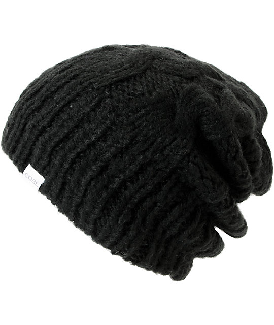 Coal Parks Black Cable Knit Beanie