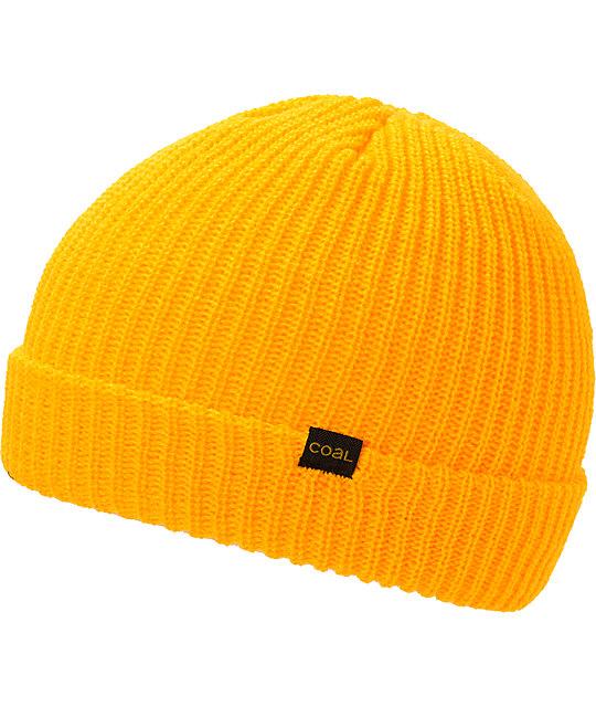 Coal Stanley Yellow Fold Beanie