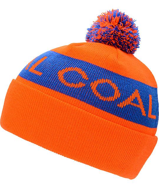 Coal Team Orange Pom Beanie