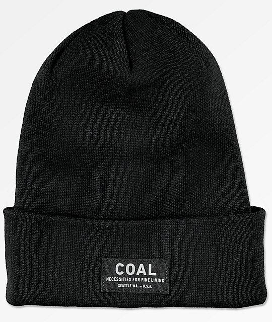 Coal The Carson Black Fold Beanie