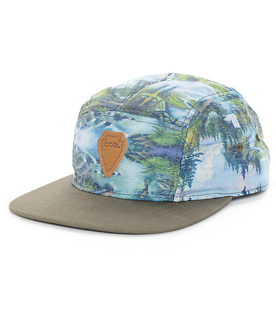 Coal The Cascade Olive 5 Panel Hat