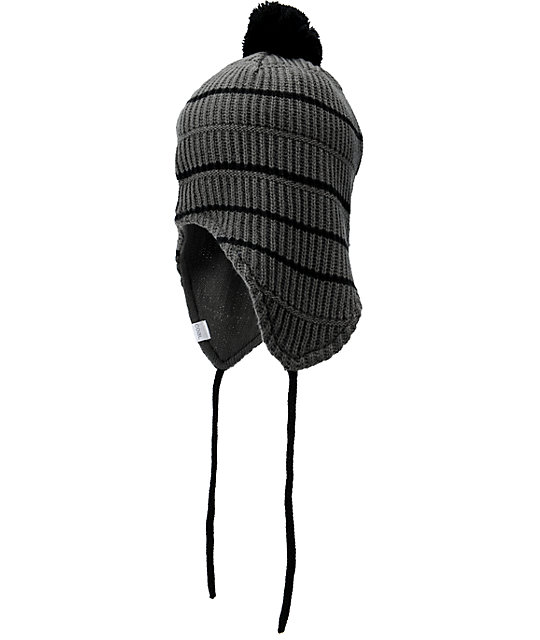 Coal The Clayton Grey Earflap Beanie